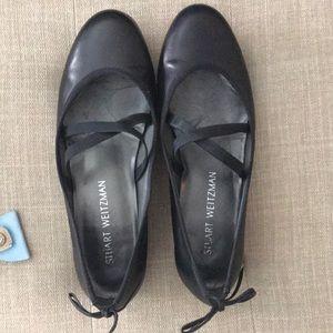 Stuart Weitzman flats black leather, 7